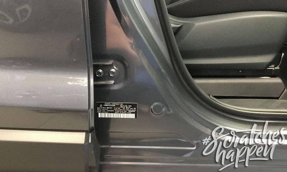 Subaru Paint Code Location (Wide)