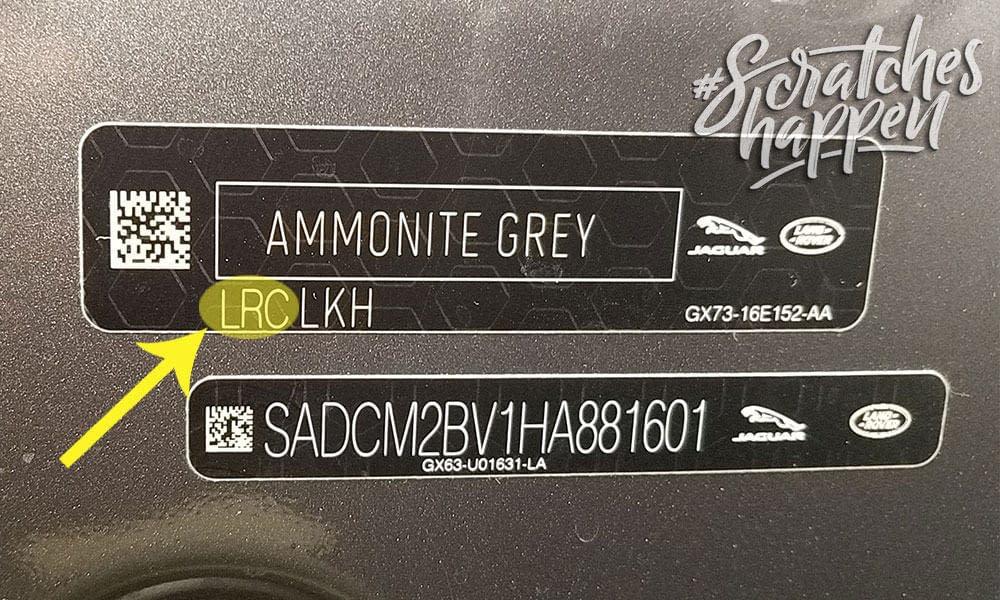 Jaguar Paint Code Location (Sticker)