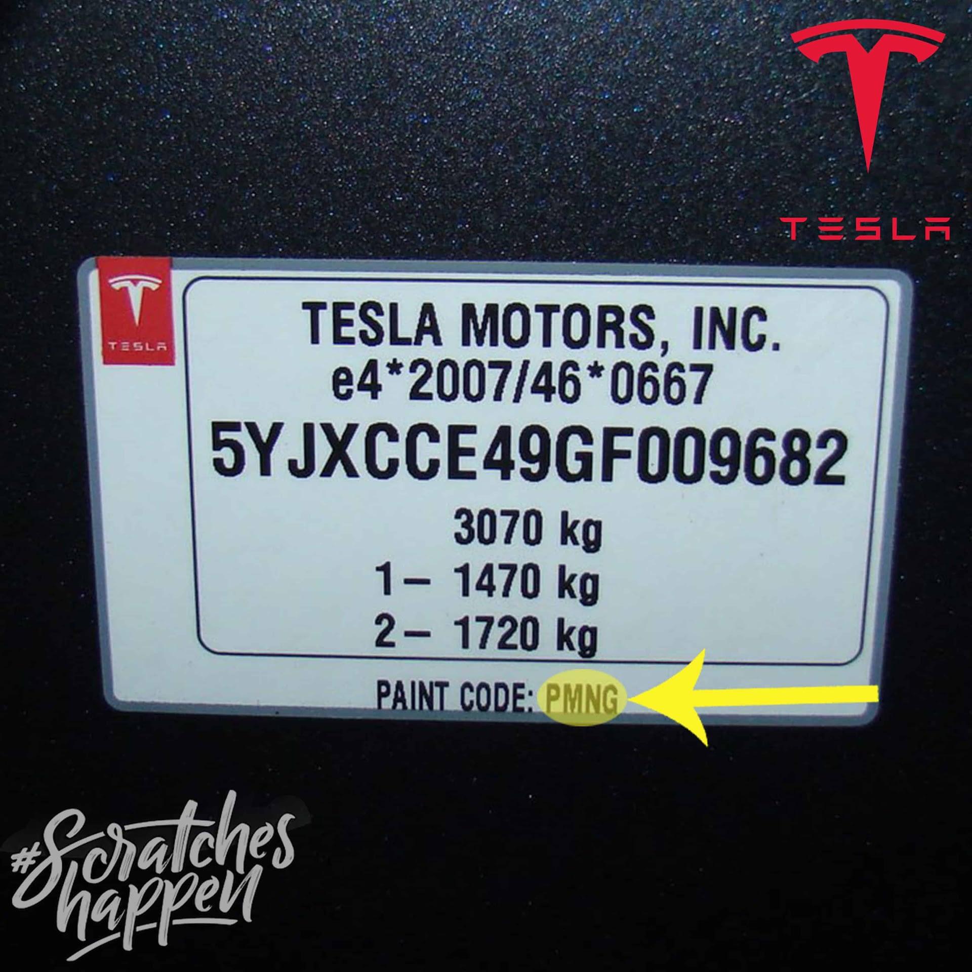 Tesla Paint Code Location (Sticker)